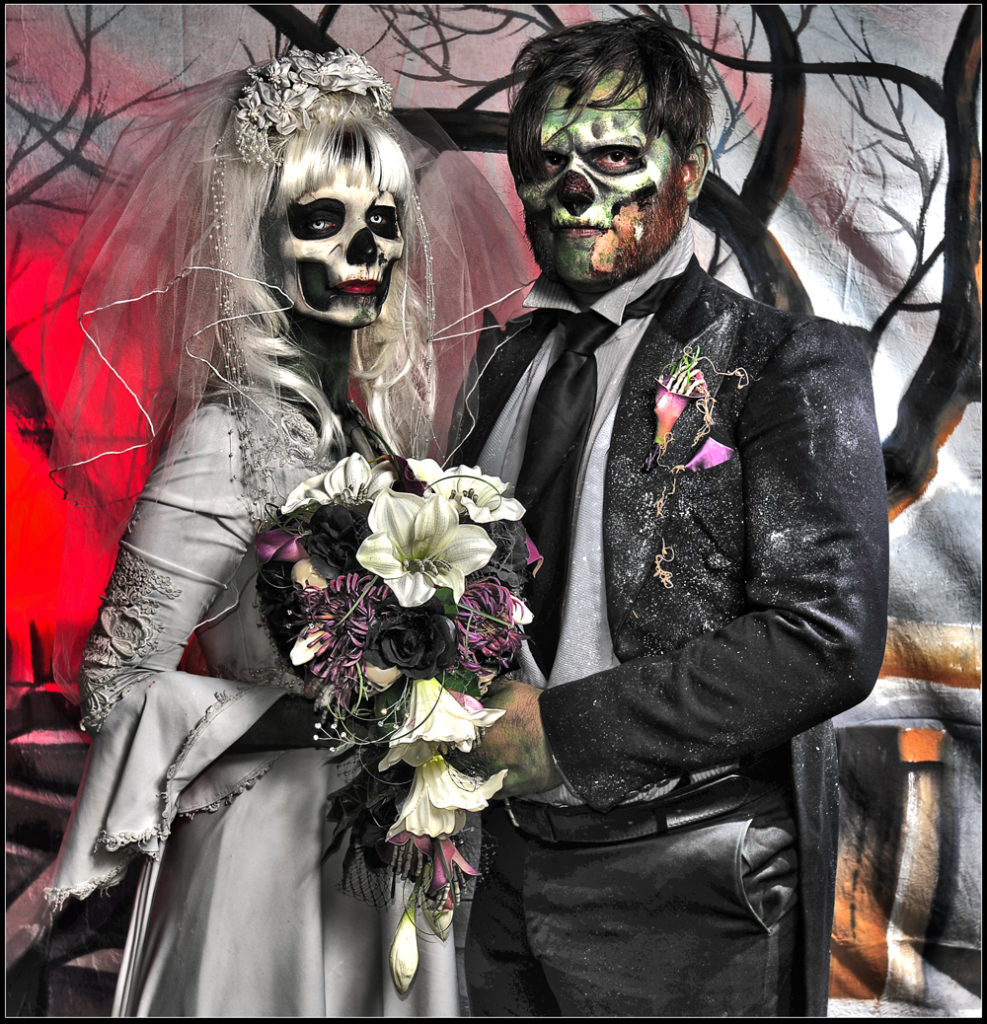 celebration discovery church unique alternative weddings zombie bride groom