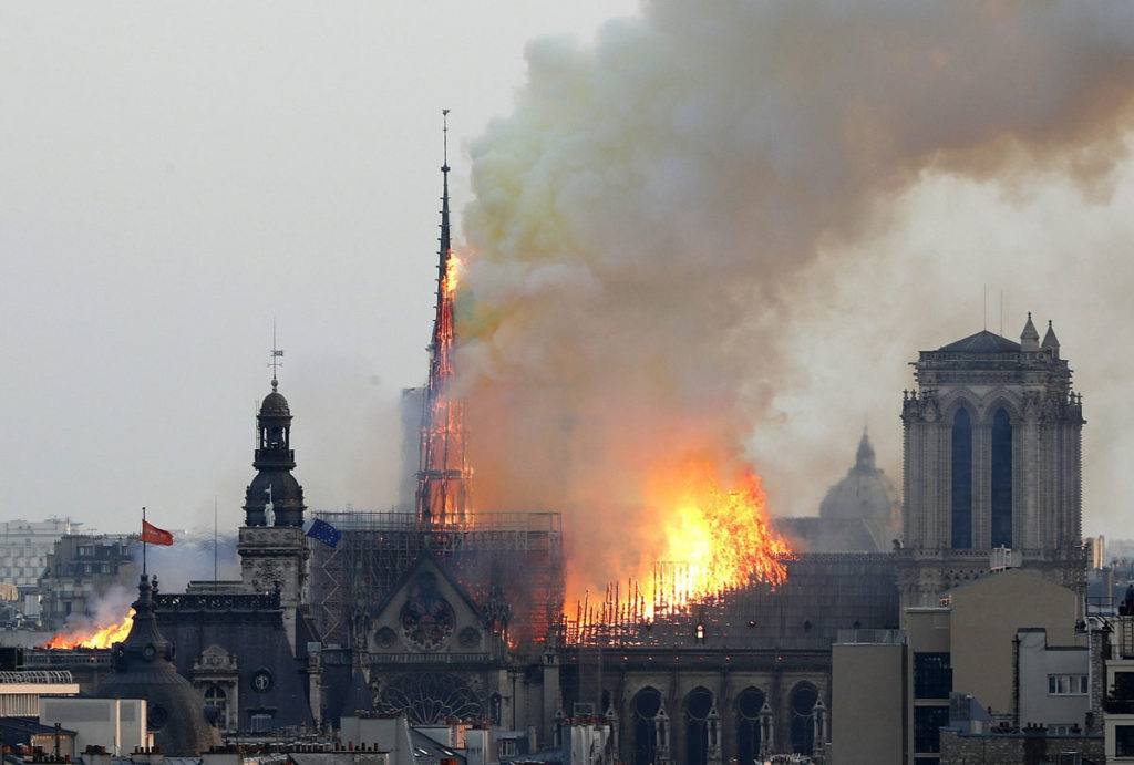 Notre Dame Cathedral Church Building Fire