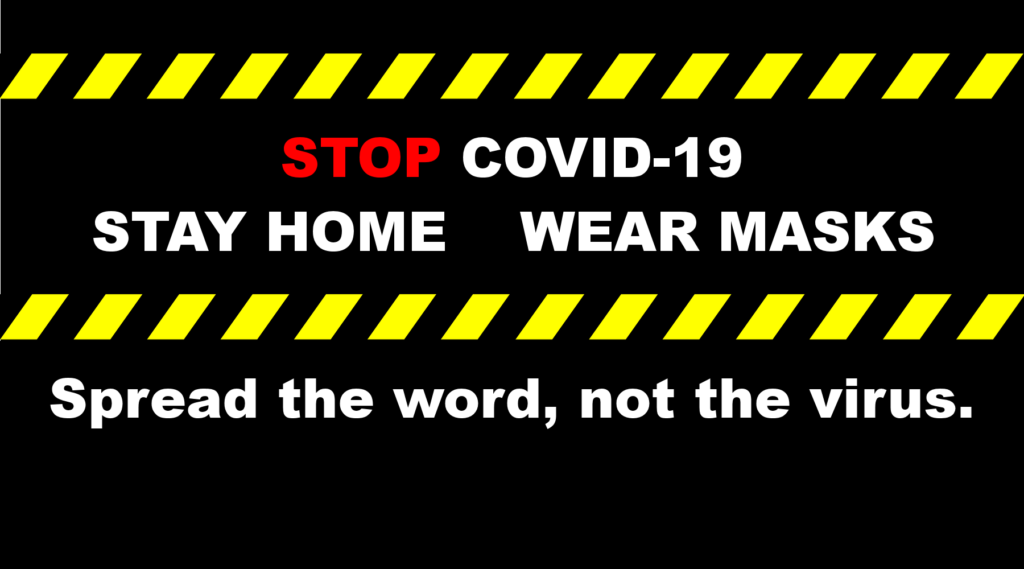 cdc celebration discovery church covid 19 corona virus stay home wear masks caution tape